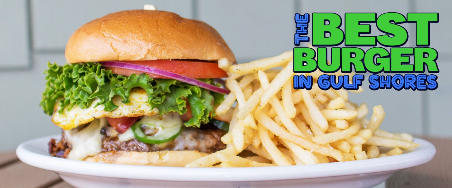 Great burgers, seafood, and more at the Beach House restaurant in Gulf Shores!